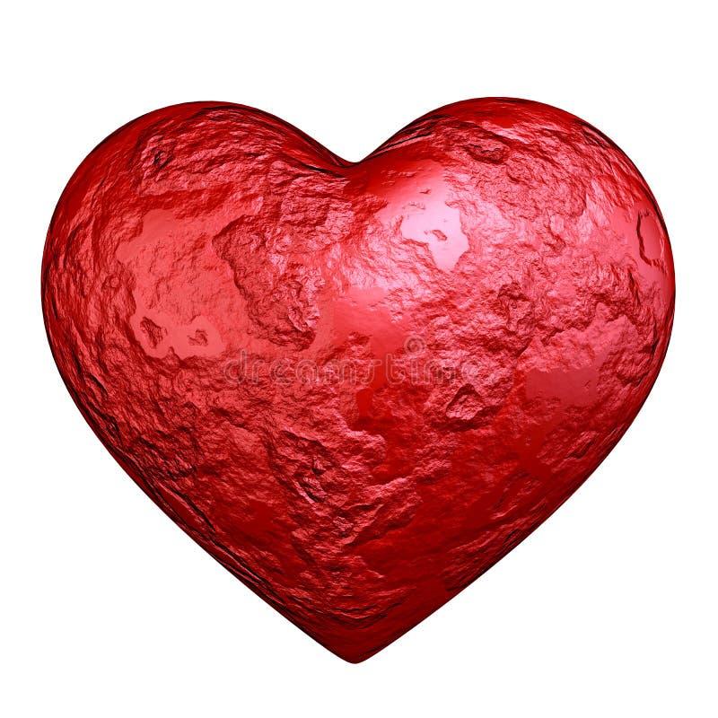 Röd hjärtasten vektor illustrationer
