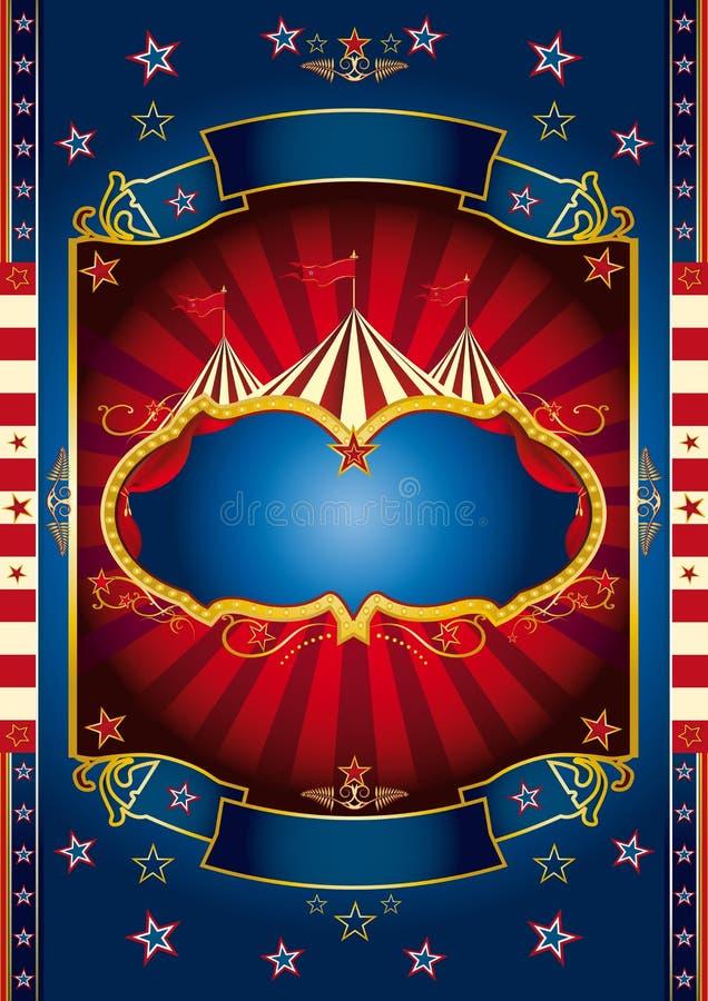Röd hjulcirkus royaltyfri illustrationer