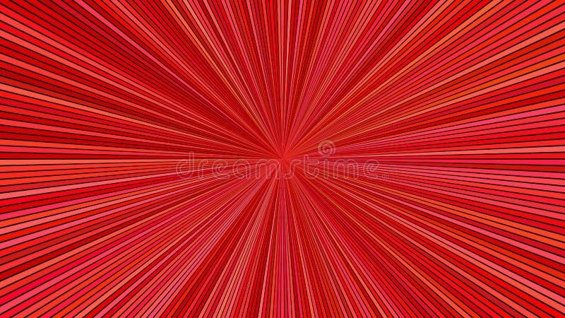 Röd hypnotisk bakgrund för stjärnabristningsband - explosivt diagram för vektor royaltyfri illustrationer