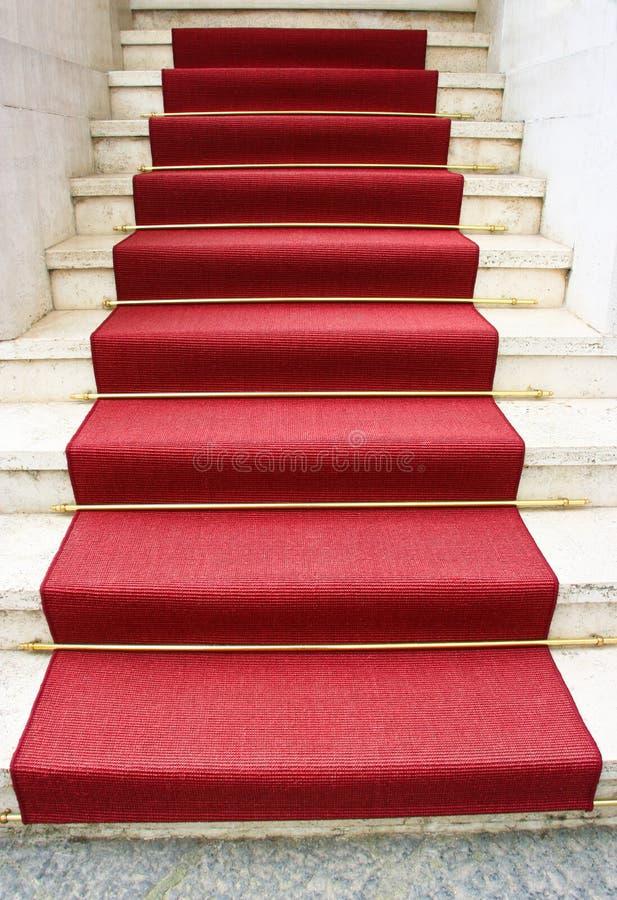 Röd i stadens centrum matta och Los Angeles royaltyfria foton