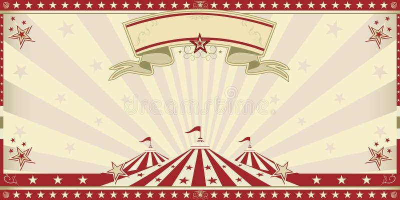 Röd inbjudan för cirkus vektor illustrationer