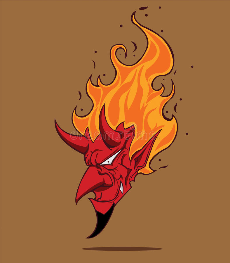 Röd jäkel royaltyfri illustrationer