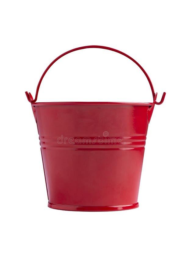 Röd järnhink fotografering för bildbyråer