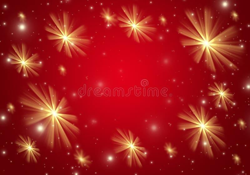 Röd julbakgrund stock illustrationer