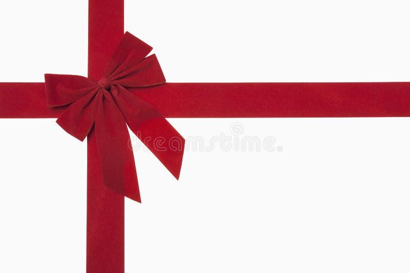 Röd julBow royaltyfri fotografi