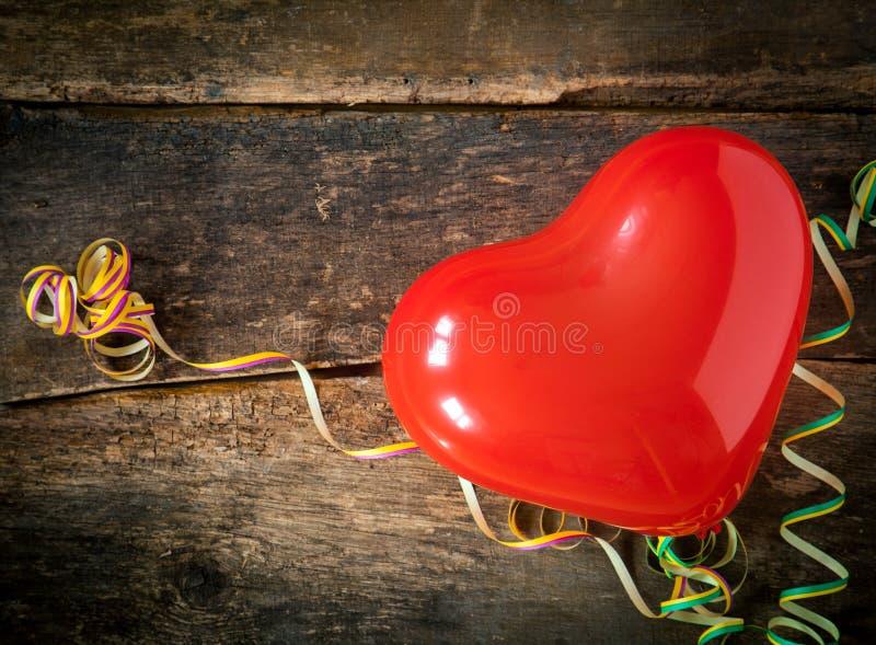 Röd julhjärta arkivbild
