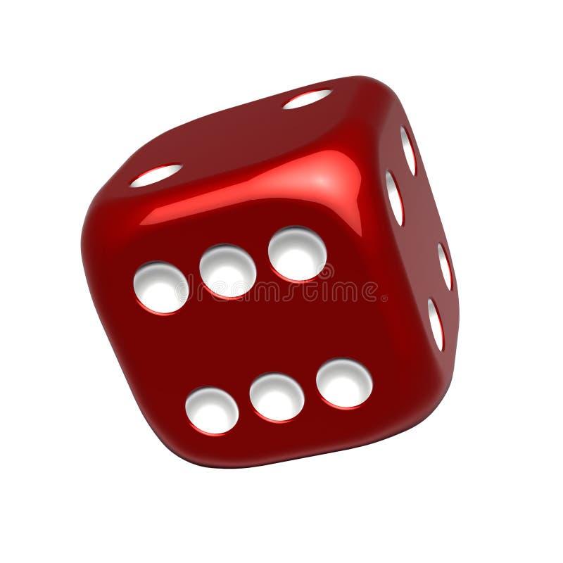 röd kasinotärning royaltyfri illustrationer