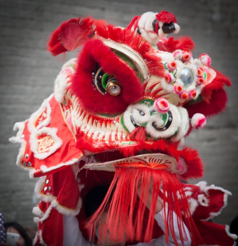 Röd kinesisk drake för nytt år fotografering för bildbyråer