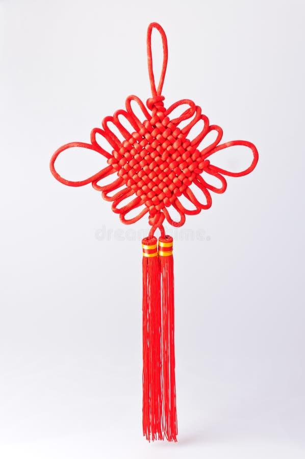 Röd kinesisk fnuren royaltyfria bilder
