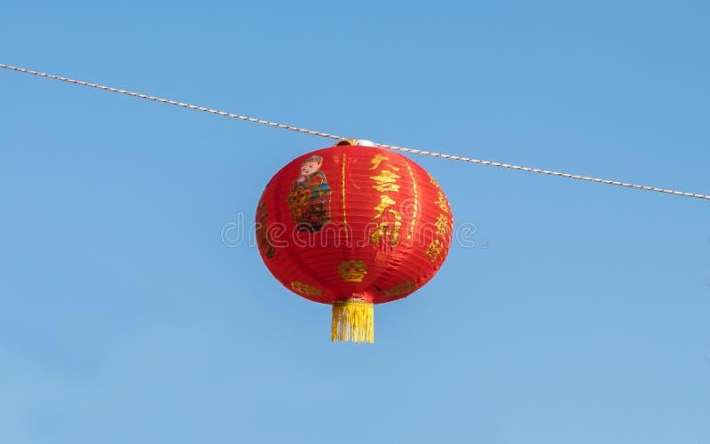 Röd kinesisk lykta royaltyfria bilder