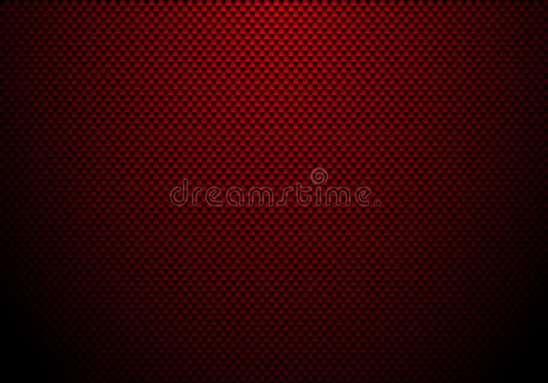 Röd kolfiberbakgrund och textur med belysning Materiell tapet för bilatt trimma eller service royaltyfri illustrationer