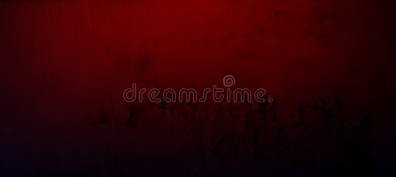 Röd konkret cementvägg för Grunge med sprickan för texturbakgrund royaltyfria foton