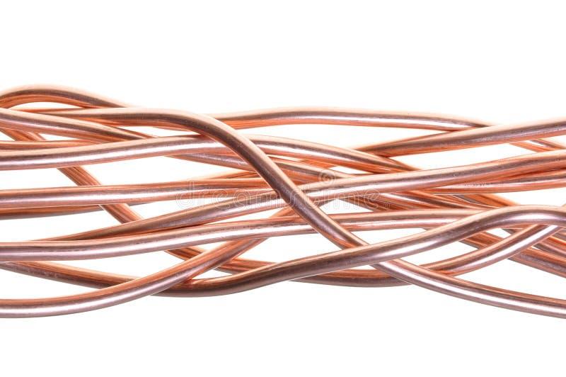 Röd koppartrådindustri royaltyfri foto