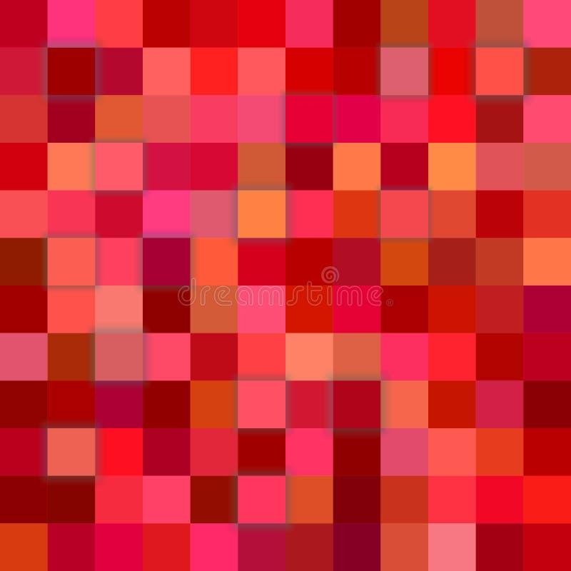 Röd kubbakgrund för abstrakt begrepp 3d stock illustrationer