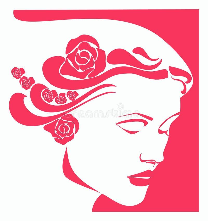 röd kvinna royaltyfri illustrationer