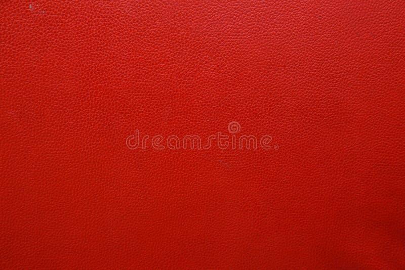 Röd lädertextur royaltyfri fotografi