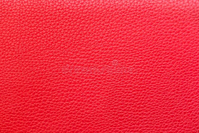 Röd lädertextur för bakgrund arkivbilder