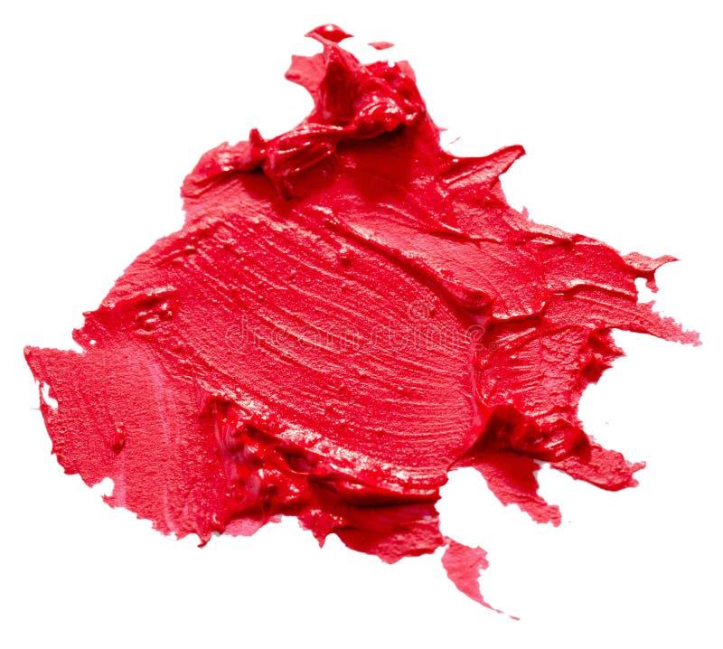 Röd läppstiftslaglängd som isoleras på den vita bakgrunden fotografering för bildbyråer