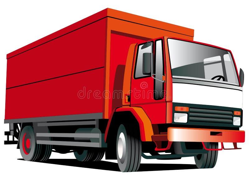 röd lastbil stock illustrationer