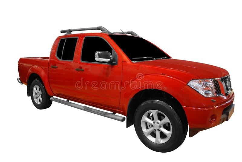 röd lastbil för hacka upp royaltyfri foto