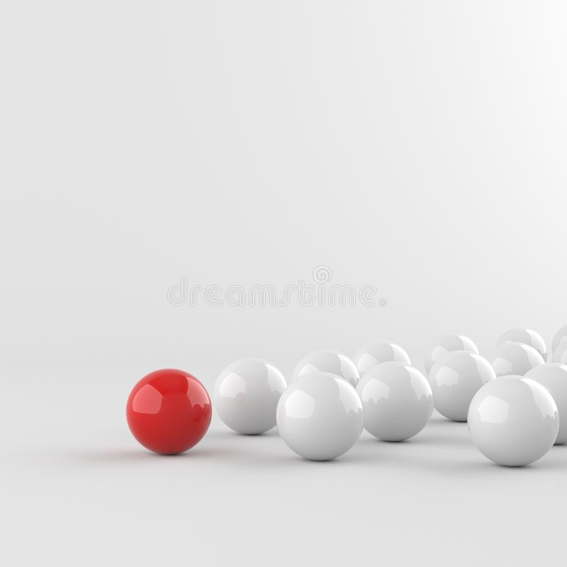 Röd ledareboll stock illustrationer