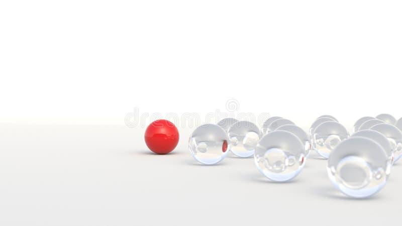 Röd ledareboll royaltyfri illustrationer