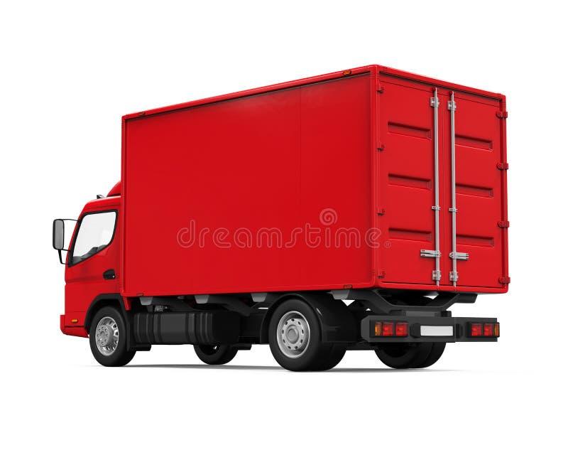 Röd leveransskåpbil vektor illustrationer