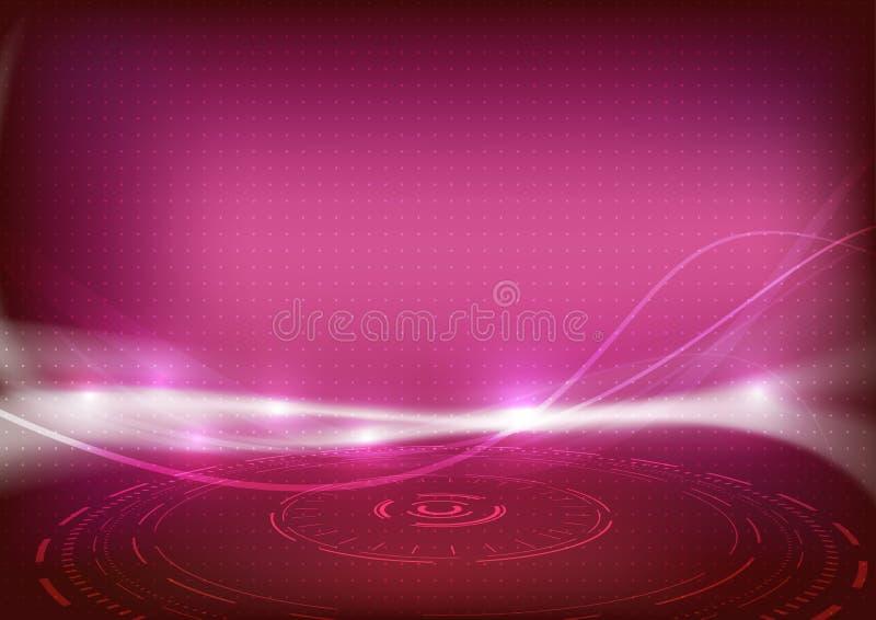 Röd ljus mousserande bakgrund för Swooshenergivåg royaltyfri illustrationer