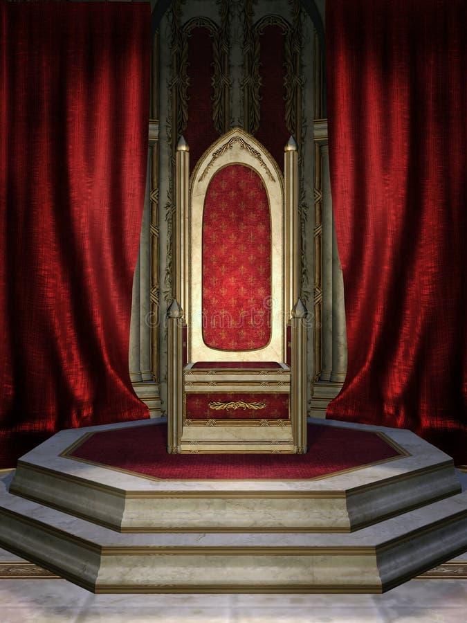 röd lokalbiskopsstol vektor illustrationer