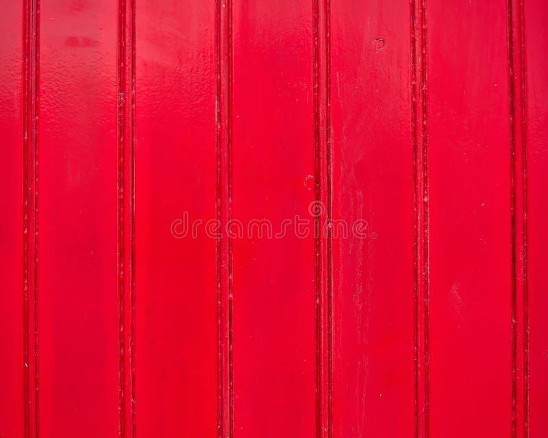 Röd målad wood bakgrund royaltyfri fotografi