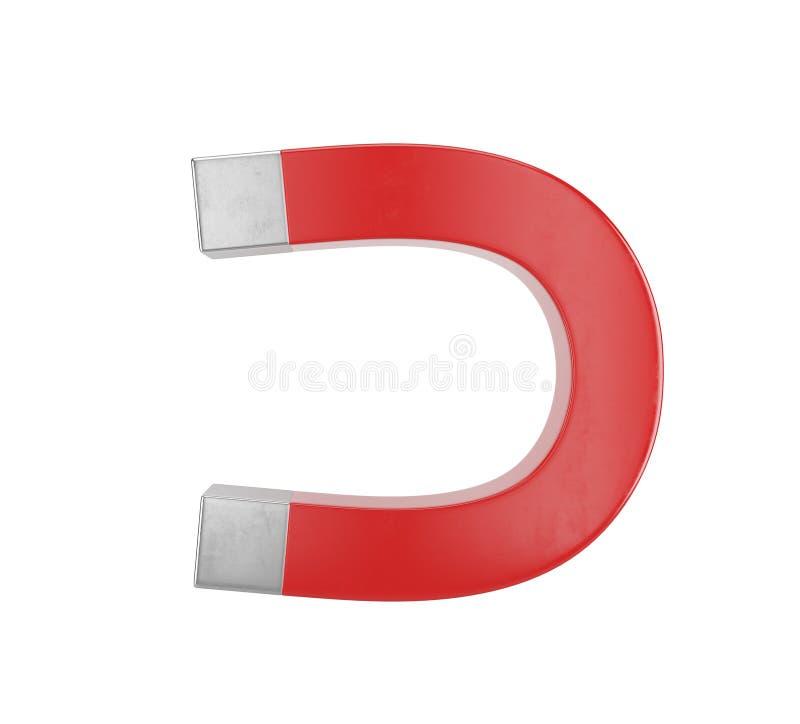 Röd magnet royaltyfri illustrationer