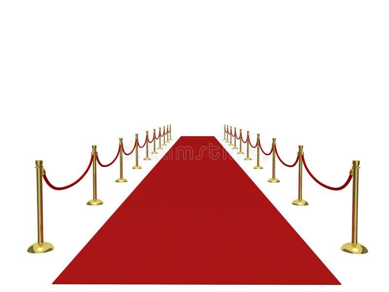 Röd matta fotografering för bildbyråer