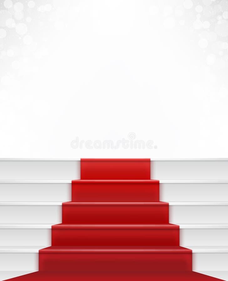 Röd matta royaltyfri illustrationer