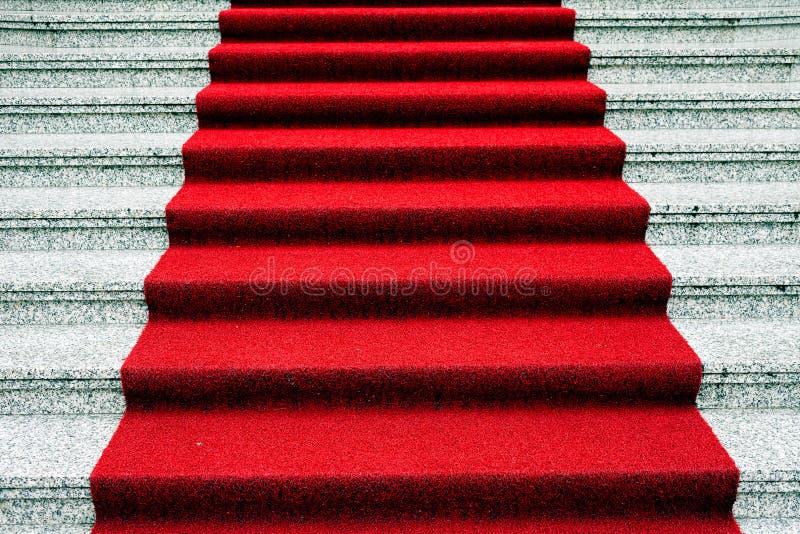 Röd matta royaltyfri bild