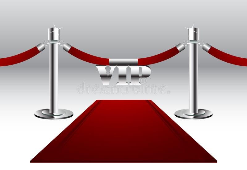 Röd matta med storgubbetecknet royaltyfri illustrationer