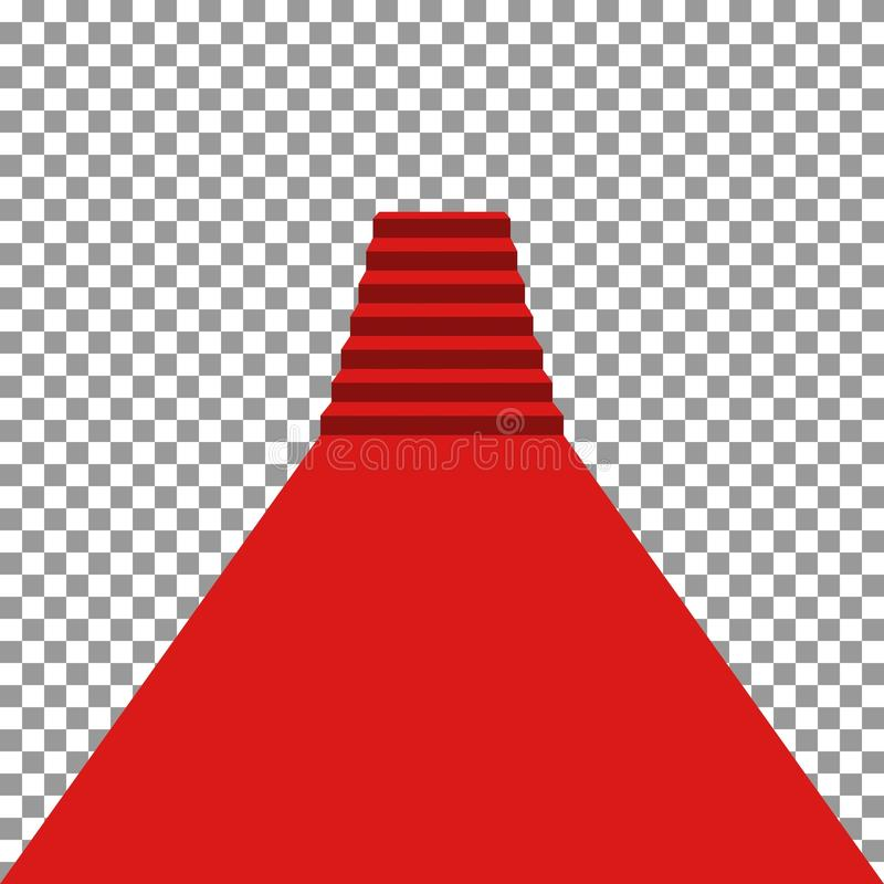 Röd matta vip stock illustrationer