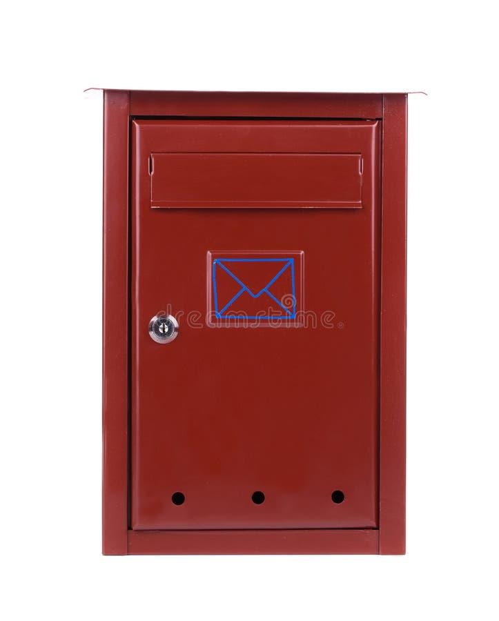Röd metallbrevlåda royaltyfri bild