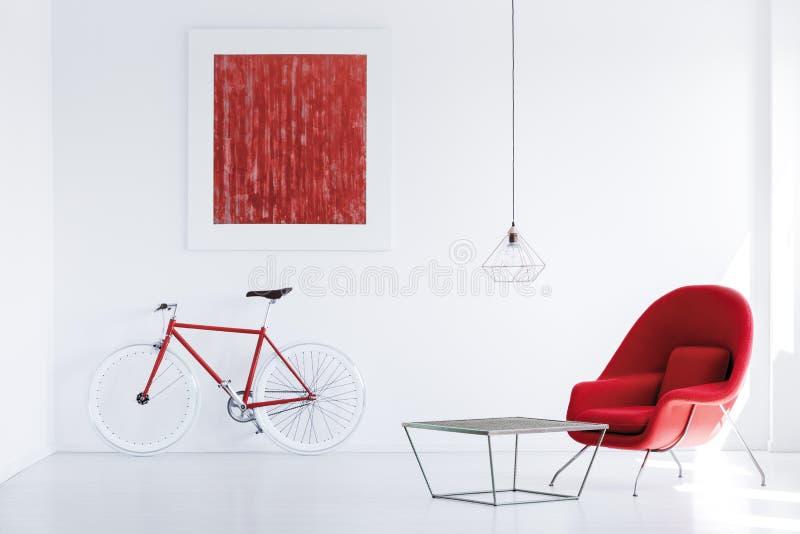 Röd modern affisch arkivbilder