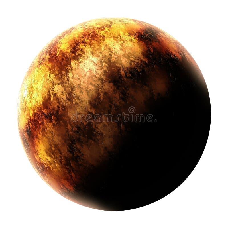 Röd Moon royaltyfri illustrationer
