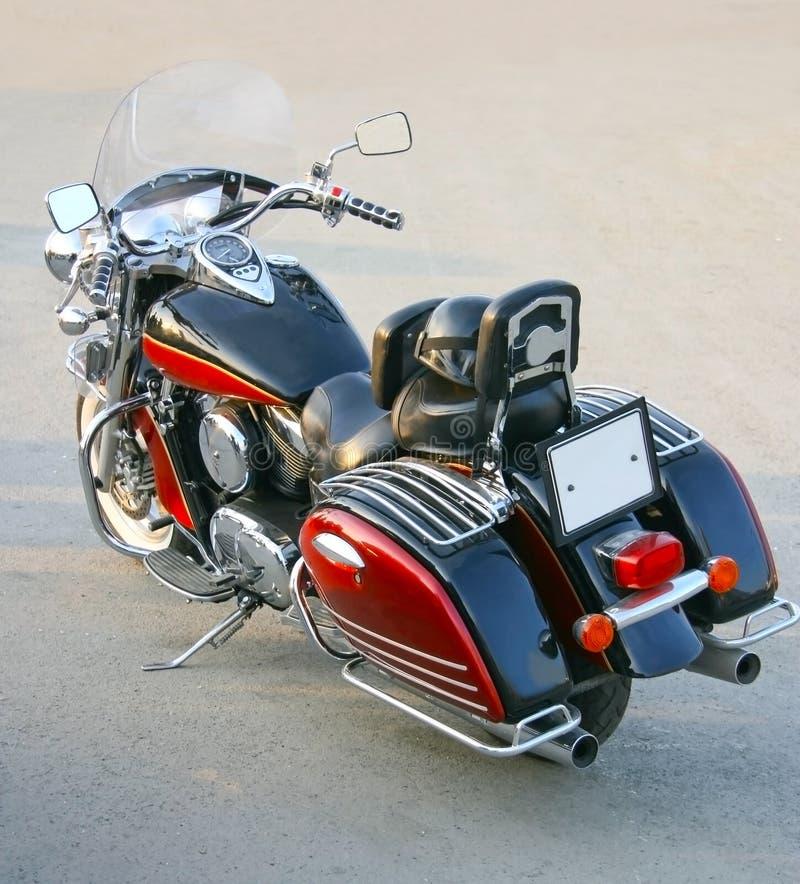 Röd motorcykel royaltyfri fotografi