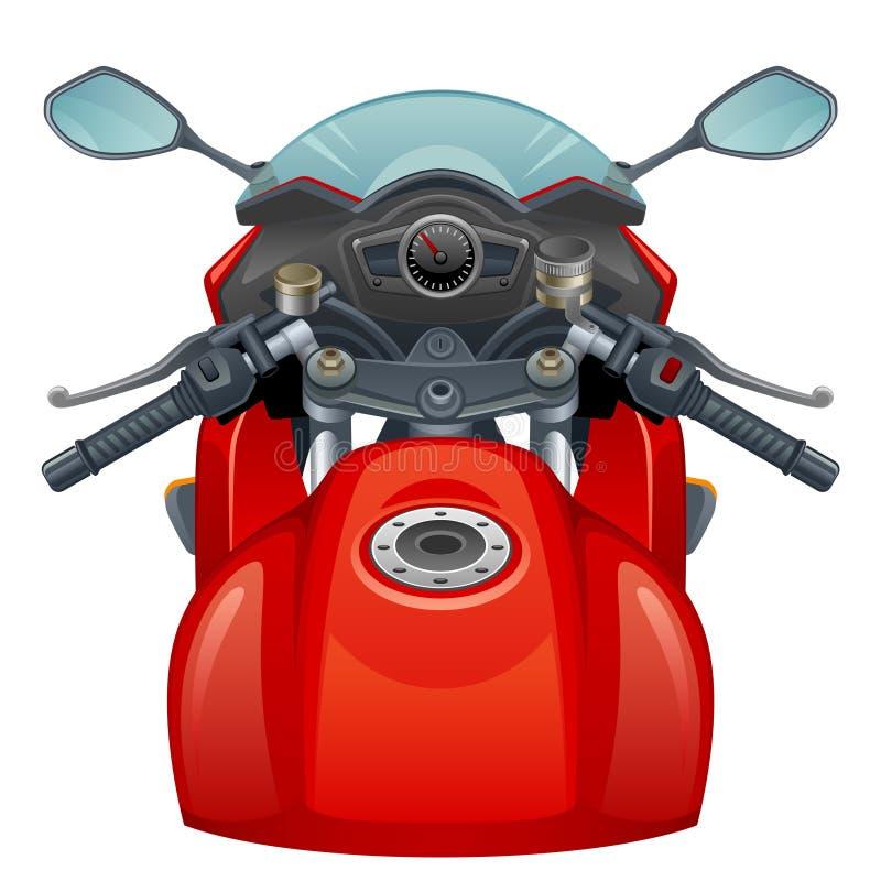 Röd motorcykel stock illustrationer