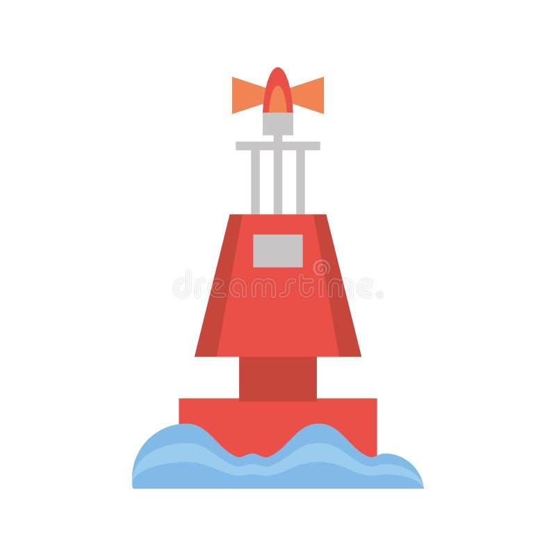 röd navigering för ljus för markörbojhav vektor illustrationer