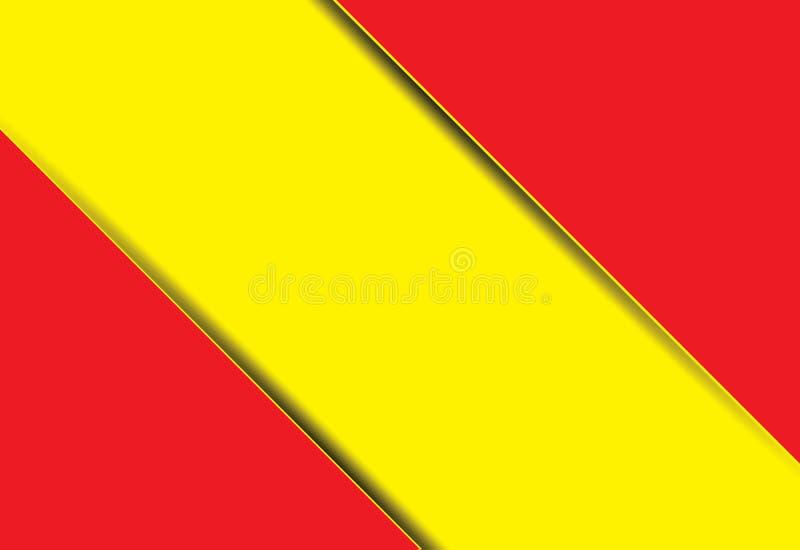 Röd och gul modern materiell designbakgrund Eps10 ve vektor illustrationer
