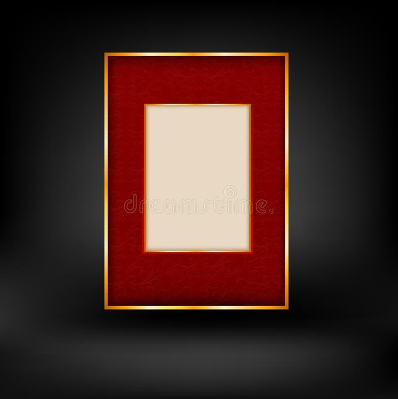 Röd och guld- lyxig bakgrund vektor illustrationer