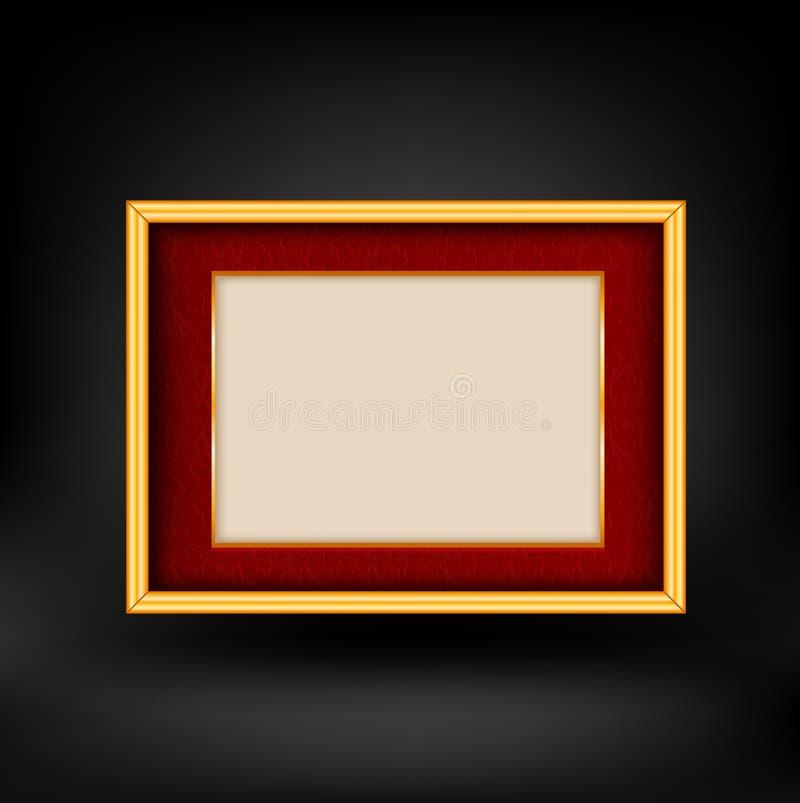 Röd och guld- lyxig bakgrund stock illustrationer