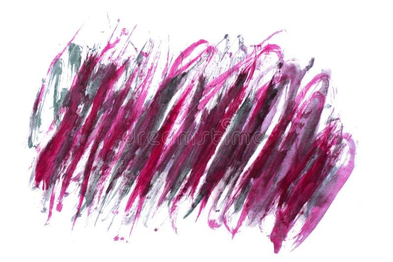 Röd och purpurfärgad abstrakt vattenfärgfläck royaltyfri foto