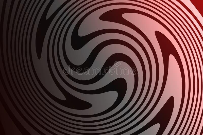 Röd och svart bakgrund för skuggningsabstrakt begreppvektor stock illustrationer