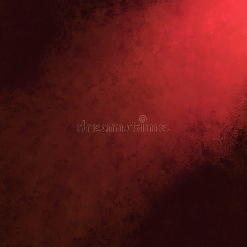 Röd och svart bakgrund med den grova glas- textur- och hörnstrålkastaren royaltyfri foto
