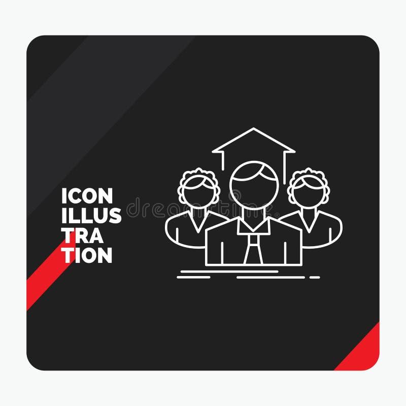Röd och svart idérik presentationsbakgrund för lag, affär, teamwork, grupp som möter linjen symbol royaltyfri illustrationer