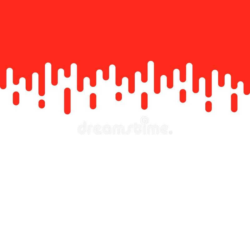 Röd och vit bakgrund rundade rastrerade linjer stock illustrationer